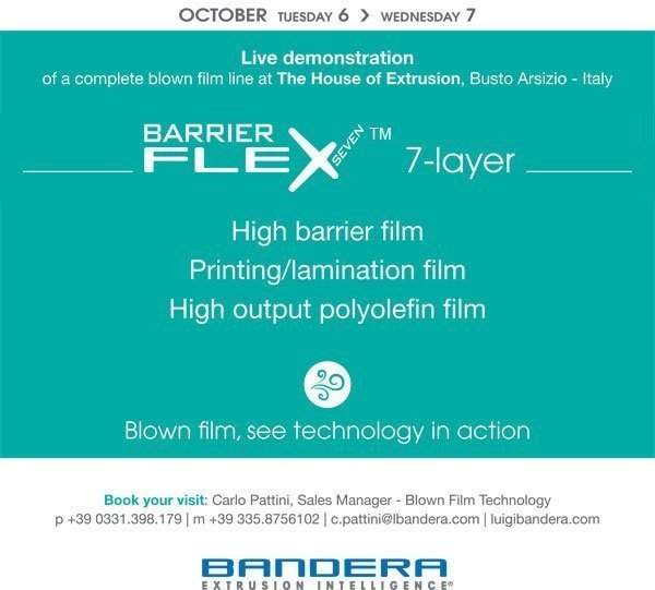See technology in action at #TheHouseofExtrusion: BarrierFlex 7-layer, 6-7 Oct