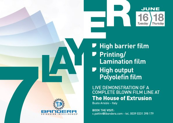 7-Layer - Live demonstration of a complete blown film line